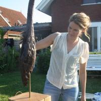 Vogel, brons, beeld, Iris Stolk, Roerdomp, Biesbosch, kunstenaar, Atelierbreda