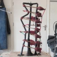 geboetseerde tulpen in was | Atelierbreda