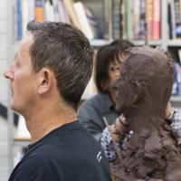 model hoofd-geboetseerde kop | Atelierbreda